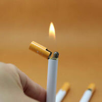 Mini Windproof Jet Flame Cigarette Shaped Cigar Lighter - Refillable Butane Gas