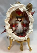 Collectible Christmas Egg With A Nutcracker 3.5 Inches Tall With Stand