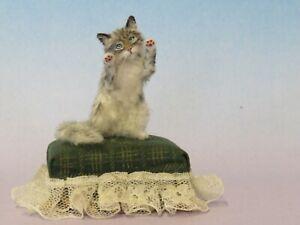 OOAK Dollhouse Miniature 1:12  Cat Realistic Handmade IGMA Artisan JParrott