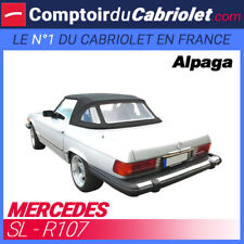 Capote noire pour Mercedes SL R107 cabriolet - Toile Alpaga Sonnenland