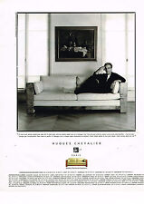 PUBLICITE ADVERTISING 045  1996  HUGUES CHEVALIER  canapé CHARLESTON pierre ARDI