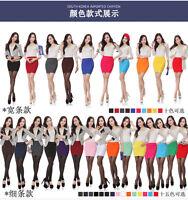 Sexy Womens Mini Skirt Pleated Seamless Stretch Tight Slim Candy Pencil Dress