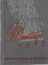 HS868 AL 1943 Alabama College 'Montage' Yearbook