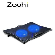 Laptop Cooler with 2 Fans 2 USB Ports Blue Back Light and Notebook Cooling Pad