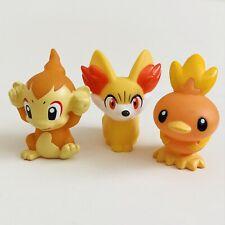 Chimchar Fennekin & Torchic Pokemon Nintendo Bandai Toy Figures Starter Fire b