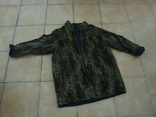 Vintage Leopard Skin Reversable Ladies Jacket  Coat size 14