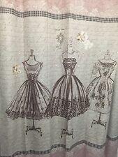 Vintage Couture Shower Curtain Floral Hooks Gown Rug Chic Fashion Diva Bath Set