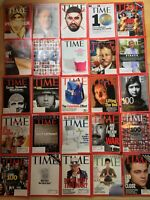 Time Magazine 2000s 25 Lot Leonardo DiCaprio Ellen DeGeneres GeorgeW.Bush Saddam