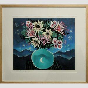 "Brazil Brazilian Yara Tupynamba Print titled ""Vaso de Flores"" ca. 20th century"