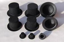 Miniatur-Zylinder aus Velour, schwarz für Schneemann, Schornsteinfeger usw.