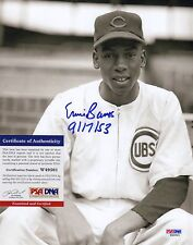 Ernie Banks Chicago Cubs MLB Debut 9/17/53 Signed AUTOGRAPH 8 x 10 Photo PSA DNA
