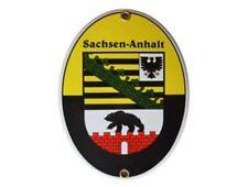 de Qualité Plaque en émail Sachsen-Anhalt 11,5 x 15 cm