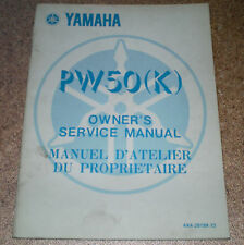 Service Manual Yamaha PW 50 (K) Stand 1982