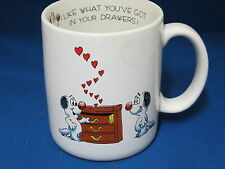 I Like What You Got In Your Drawers Dog Dogs Mug Cup Made Japan Love Vagabond