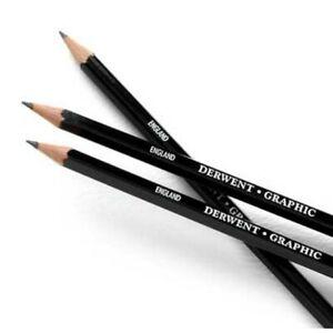 Derwent Graphic Drawing Pencils - 9B 8B 7B 6B 5B 4B 3B 2B B HB F H 2H 3H 4H - 9H