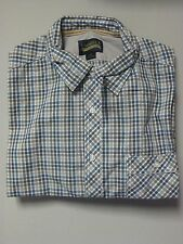 Daniel Cremieux Premium Denim Men's Grey Short Sleeve Button-Up Shirt Size XL
