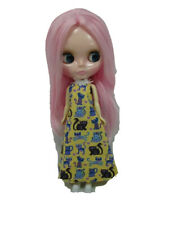 Costume outfit handcrafted halter long dress for Blythe Basaak doll 10-14