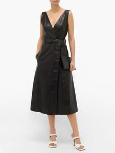 "Petar Petrov Black Leather ""Awel"" Dress 8 UK / 36 EU rrp £1920"