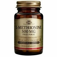 Solgar L Methionine Essential Amino Acid 500 mg Free Form 30 Vegetable Capsules