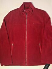 Tommy Hilfiger Mens Size XL Classic Zip Front Polar Red...