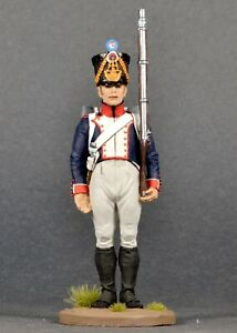 Hand Painted Tin Toy Collectible Fusilier 61 line regiment, France, 1813-1815
