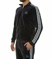 MED adidas OG Men's VELOUR  Beckenbauer  TRACKSUIT  Pants & Jacket  BLACK  LAST1