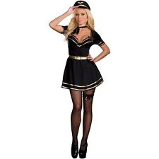 FRENCH MILE HIGH CAPTAIN MISS FIFI LOVE HALLOWEEN COSTUME ADULT SIZE MEDIUM