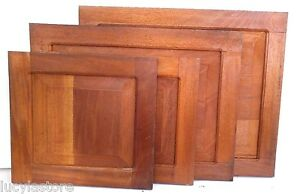 "4 RAISED PANEL KITCHEN CABINET DOOR 24""x24"" unfinished SOLID WOOD Cedar Peruvian"