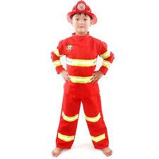 Child Fire Chief Role Play Fireman Kids Costumes 3Pcs Dress-Up Uniform Set