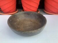 Antique Old Hand Carved Rare Stone Made Decorative Big Bowl Collectible