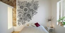 Wall Room Decor Art Vinyl Sticker Mural Decal Doodle Floral Zentangle FI1069
