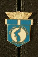 Korean Veterans Memorial Pin Clutch Back Korea Service Ribbon Style Early Prod.