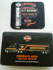 Harley Davidson Freightliner Tractor Trailer 1:64 Diecast Replica Tin & Mousepad
