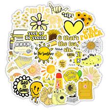 Yellow Stickers Cute Laptop Water Bottles Mug Flask Decal for Teens Girls Trendy