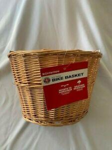 NEW Schwinn Quick Release wicker Basket for Bicycle
