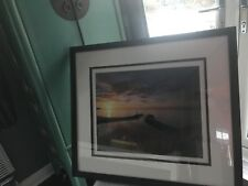 Midsummer Sunset Print In Double Mounted Frame