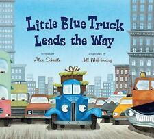 Little Blue Truck Leads the Way (Lap Board Book) (Board Book)