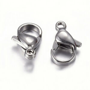 20 x 304 Stainless Steel Lobster Claw Clasp  Color 12mm x 7.5mm