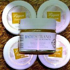 Badestrand DOPPEL-PACK Lippenbalsam Glastiegel 2x15ml Kokosöl Kakao Shea Olive