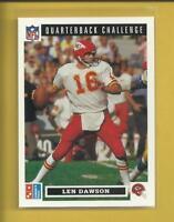 Len Dawson 1991 Upper Deck Domino's Pizza Quarterback Challenge Card # 34 Chiefs