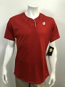 Demarini Women's Girl's T600 2 Button Jersey Scarlett Red Large New with Tags