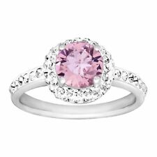 Crystaluxe June Ring with Light Purple Swarovski Crystals in Sterling Silver