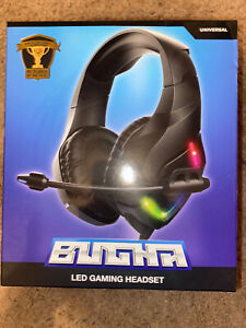 BUGHA LED Gaming Headset, Pro Gamer Player Of The Year  PS4,Xbox One,SWITCH,PC