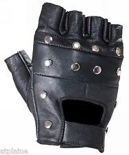 Gants moto mitaines cuir noir STUDS Taille XXL