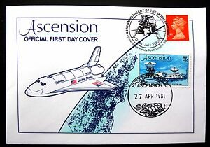 ASCENSION ISLAND 1981/2009 Space Moon Landing Official FDC FP8448