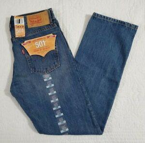 NEW Boys Levis 501 Original Fit Straight Leg Button Fly Jeans 91R501 169 Sz 18 2