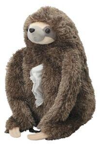 Animal Plush Doll Fluffy Tissue Case Cover Sloth So Cute Kawaii