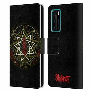 OFFICIAL SLIPKNOT KEY ART LEATHER BOOK CASE FOR HUAWEI PHONES
