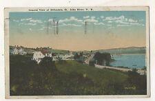 View of HILLENDALE St Saint John River NB New Brunswick Vintage Postcard