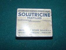 Anciennes boite métal médicament PASTILLES SOLUTRICINE
